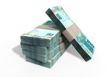 Brazilian Real Notes Pile Royalty Free Stock Photos