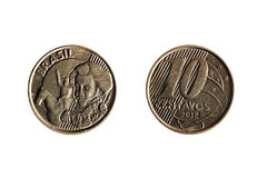 Brazilian real ten cents coin Royalty Free Stock Images