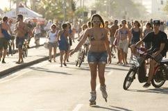 Brazilian Recreating Rio de Janeiro Brazil Stock Images