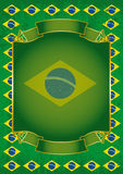 Brazilian retro frame Stock Photography