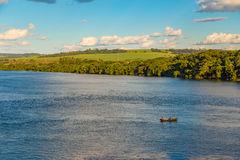 Brazilian river AKA `Rio Grande`, located at Uberaba, border of Sao Paulo State and Minas Gerais State. Brazilian river AKA `Rio Grande` in a sunny day royalty free stock images