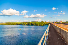 Brazilian river AKA `Rio Grande`, located at Uberaba, border of Sao Paulo State and Minas Gerais State. Brazilian river AKA `Rio Grande` in a sunny day royalty free stock photography
