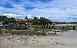 Brazilian Rocket Launch Center. Bucolic pier in Alcantara, the location of the Brazilian Rocket Launch Center. It is located almost in the Equador Line Royalty Free Stock Image