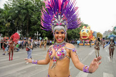 Brazilian samba dancer Stock Image