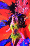 Brazilian samba dancer performing at FIFA World Cup Trophy Tour Stock Photo