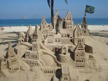 Brazilian Sandcastle stock photo