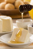Brazilian sheep cheese. Fruits and different types of cheese in Royalty Free Stock Photo