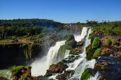 Brazilian side of Iguassu Falls. Iguassu Falls in South America viewed from the Brazil side Royalty Free Stock Photo