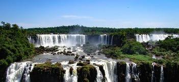 Brazilian Side of the Iguazu Falls, in Foz do Iguacu, Brazil royalty free stock photo