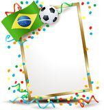 Brazilian signboard, soccer theme Royalty Free Stock Photography