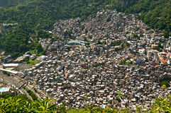 Brazilian Slum Rocinha. Biggest Slum in South America, Favela da Rocinha, Rio de Janeiro, Brazil royalty free stock photography