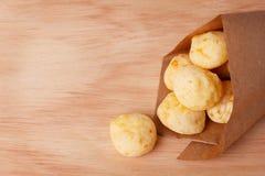 Brazilian snack cheese bread (pao de queijo) Stock Photos
