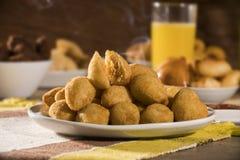 Brazilian snack. Coxinha de Frango.  Stock Photo