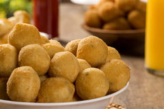 Brazilian snack. Brazilian deep fried snack, popular at local parties. Brazilian food Royalty Free Stock Photo