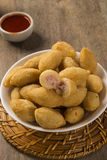 Brazilian snack fried with cheese ham Stock Images