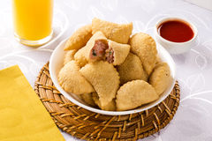 Brazilian snack. Ham and cheese pastry. Stock Image
