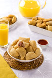 Brazilian snack. Ham and cheese pastry. Royalty Free Stock Image