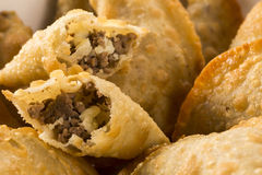 Brazilian snack. Meat pastry with cheese Stock Image