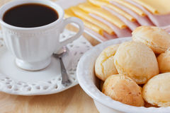 Brazilian snack pao de queijo (cheese bread) Stock Image