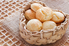 Brazilian snack pao de queijo (cheese bread) Royalty Free Stock Photos