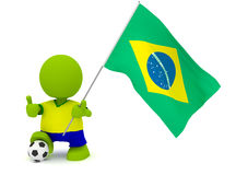 Brazilian Soccer Royalty Free Stock Photo