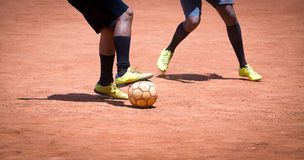 Brazilian Soccer Amateur. Soccer Amateur-brazilian people playing soccer in a park stock images