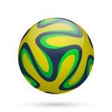Brazilian soccer ball. Vector illustration Vector Illustration