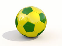 Brazilian soccer ball Stock Images