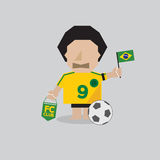 Brazilian Soccer or Football Man Stock Photography