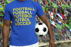 Brazilian Soccer Football Player Salvador Wish Ribbons Stock Image