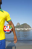 Brazilian Soccer Football Player Standing in Rio Royalty Free Stock Photo