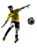 Brazilian soccer football player young man silhouette Royalty Free Stock Images