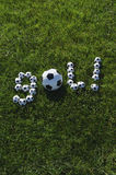 Brazilian Soccer Goal Gol Message Made with Footballs Royalty Free Stock Photography
