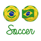 Brazilian soccer. Over white background vector illustration Stock Photos