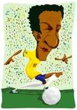 Brazilian soccer player. Royalty Free Stock Image