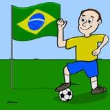 Brazilian soccer player Stock Photography