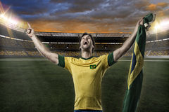 Brazilian soccer player Royalty Free Stock Images