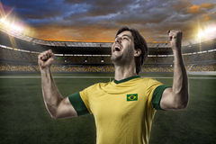 Brazilian soccer player Royalty Free Stock Photos