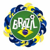 Brazilian Soccer Team Badge Royalty Free Stock Photography