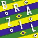 Brazilian Soccer Team Stock Image