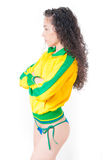 Brazilian Soccer Woman Royalty Free Stock Photography