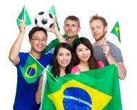 Brazilian sport soccer fans stock photos