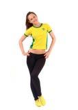 Brazilian sports fan. Stock Image