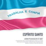 Brazilian state Espirito Santo flag. Royalty Free Stock Images