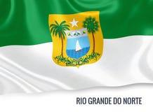 Brazilian state Rio Grande do Norte flag. Royalty Free Stock Photo