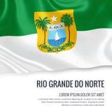 Brazilian state Rio Grande do Norte flag. Stock Photo