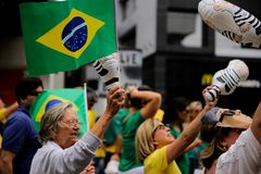 Brazilian street protests Stock Photos