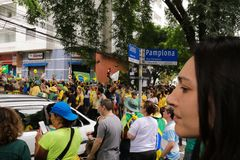 Brazilian street protests Royalty Free Stock Image