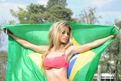 Brazilian supporter Royalty Free Stock Images