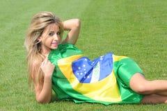 Brazilian supporter Stock Photos